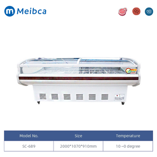 2.0m Deli Meat Display Chiller Refrigerador Escaparate