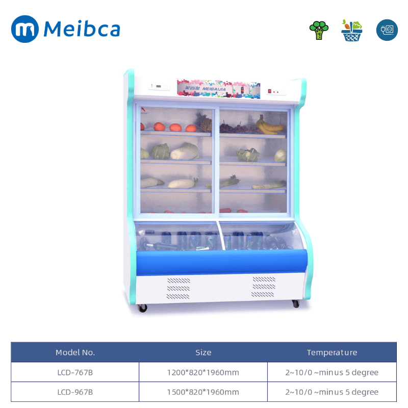 Vegetable Display Storage Cooler Comercial a la venta