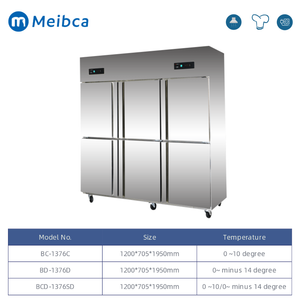 6 Door Stainless Steel Half Chiller Half Freezer
